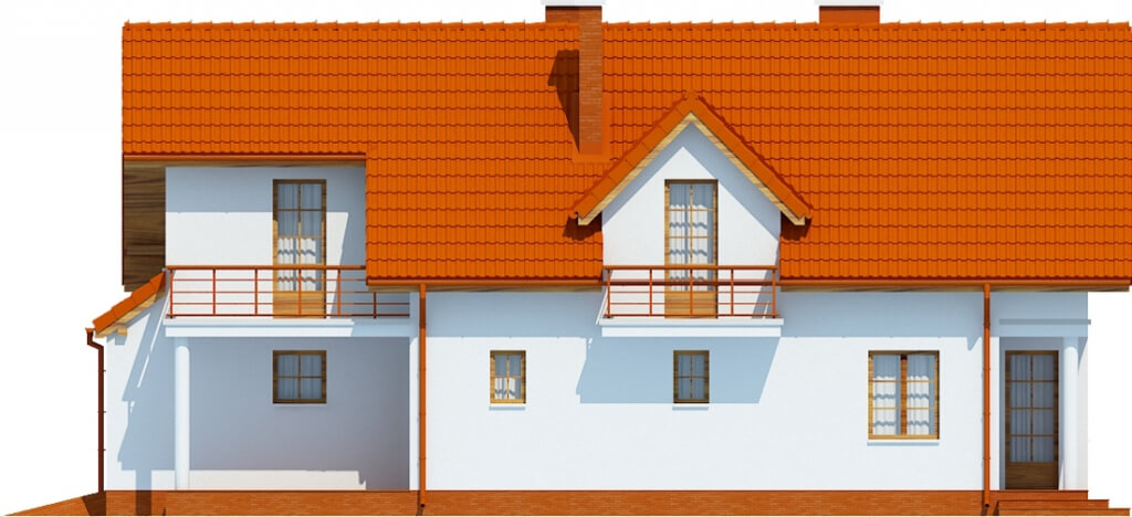 Projekt domu DM-6457 - elewacja