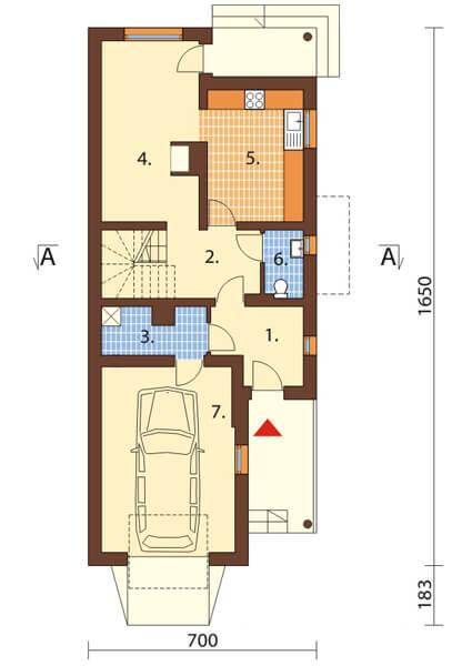 Projekt domu DM-6457 - rzut