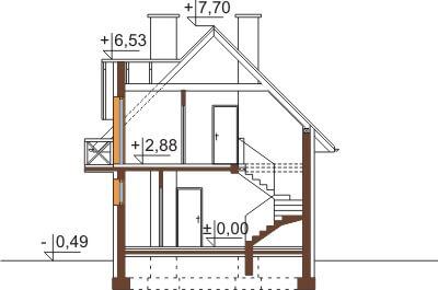 Projekt domu DM-6457 - przekrój