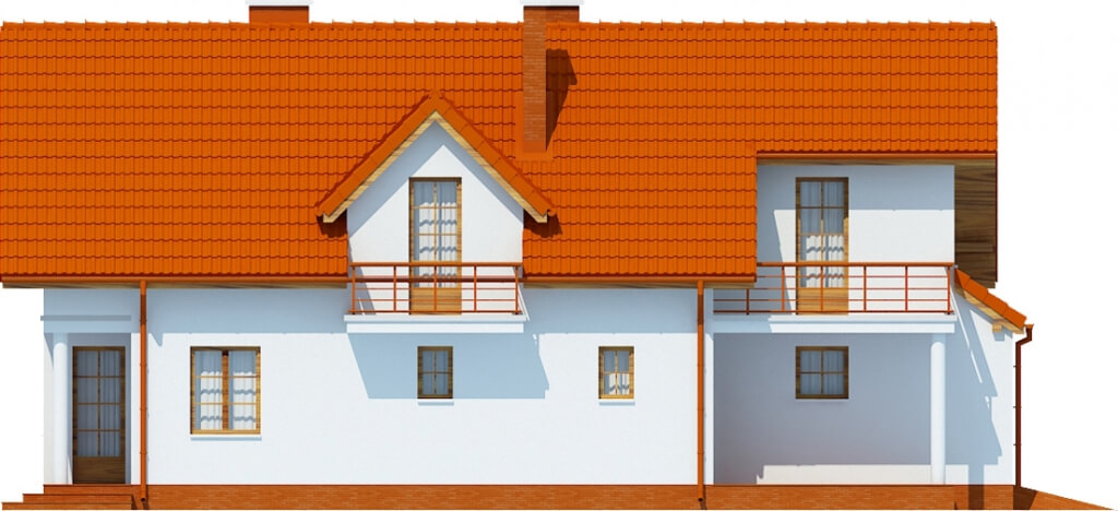 Projekt domu L-6457 - elewacja