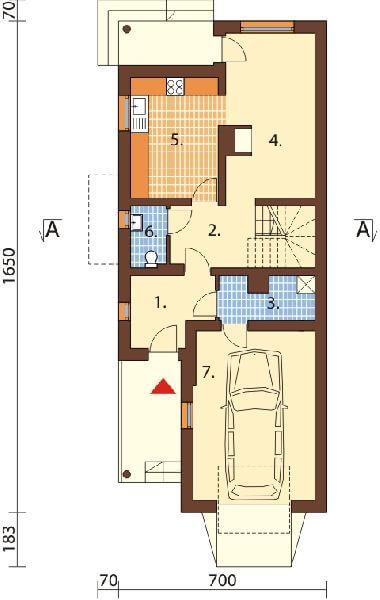 Projekt domu L-6457 - rzut