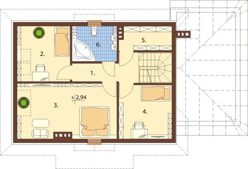 Projekt domu DM-6426 - rzut