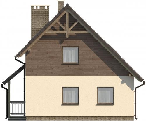 Projekt domu DM-6105 - elewacja