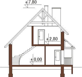 Projekt domu DM-6105 - przekrój