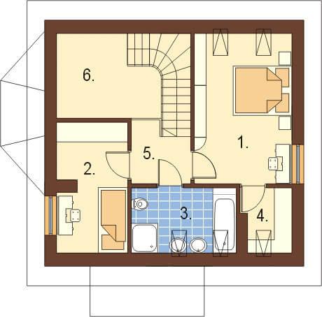 Projekt domu DM-6105 - rzut