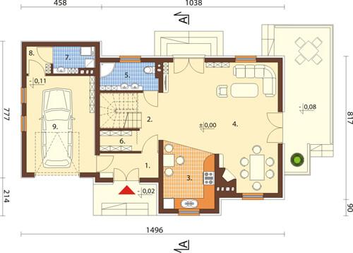 Projekt domu L-6426 - rzut