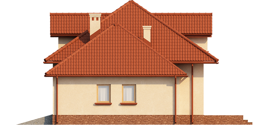 Projekt domu DM-6423 - elewacja