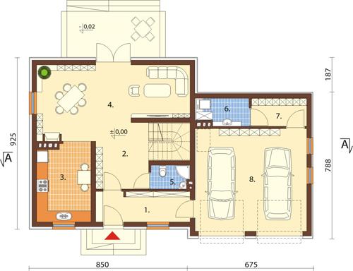Projekt domu DM-6423 - rzut