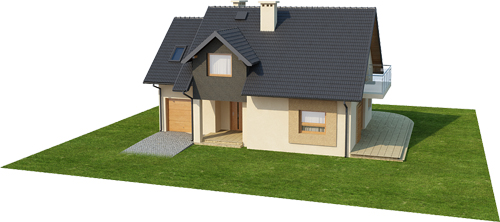 Projekt domu DM-6389 - model