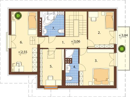 Projekt domu DM-6389 - rzut