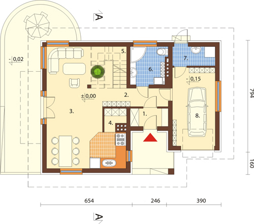 Projekt domu L-6389 - rzut
