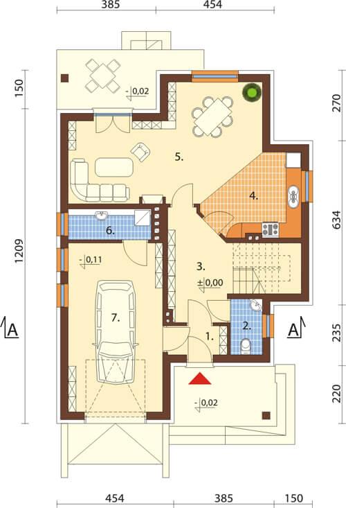 Projekt domu DM-6430 - rzut