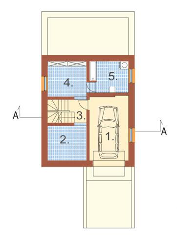 Projekt domu DM-6106 - rzut