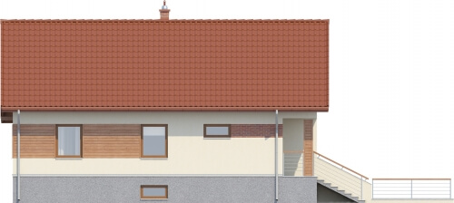 Projekt domu DM-6106 - elewacja