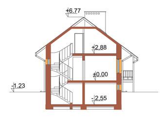 Projekt domu DM-6106 - przekrój
