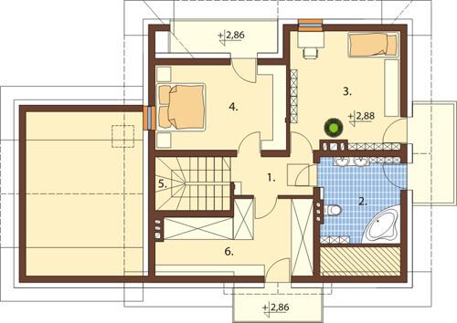 Projekt domu DM-6382 - rzut