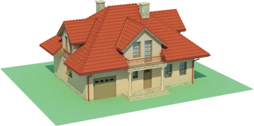 Projekt domu DM-6458 - model