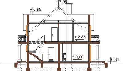 Projekt domu DM-6458 - przekrój