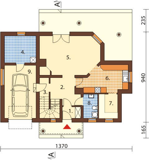 Projekt domu DM-6458 - rzut