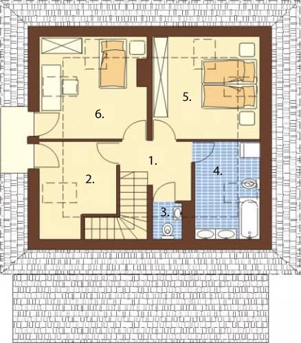Projekt domu DM-5521 - rzut