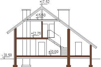 Projekt domu DM-5521 - przekrój