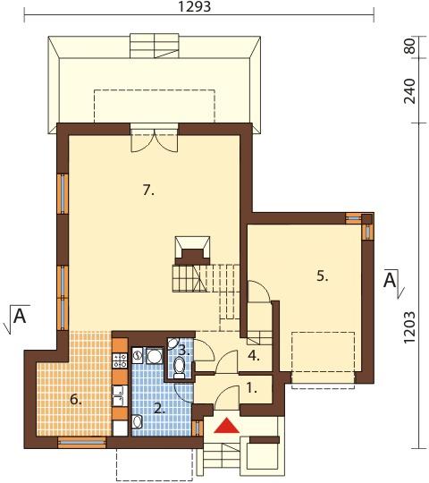 Projekt domu DM-6380 - rzut