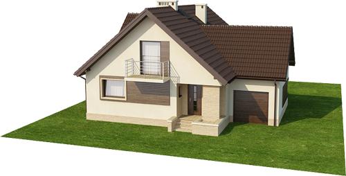 Projekt domu DM-6380 - model
