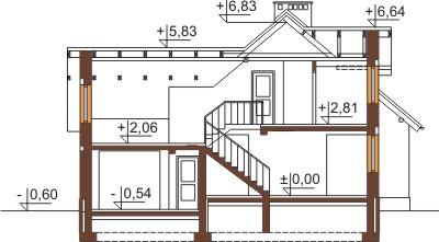 Projekt domu DM-6380 - przekrój