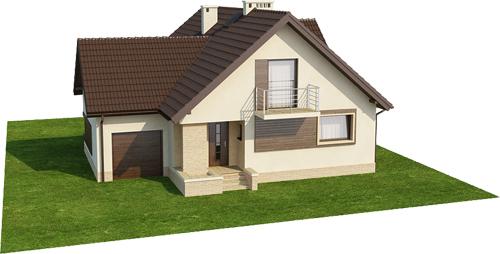 Projekt domu L-6380 - model