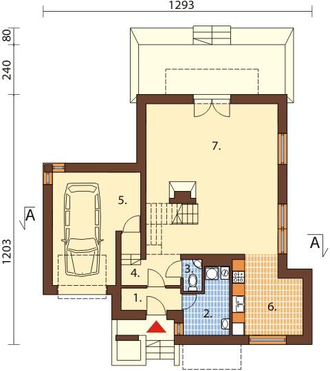 Projekt domu L-6380 - rzut