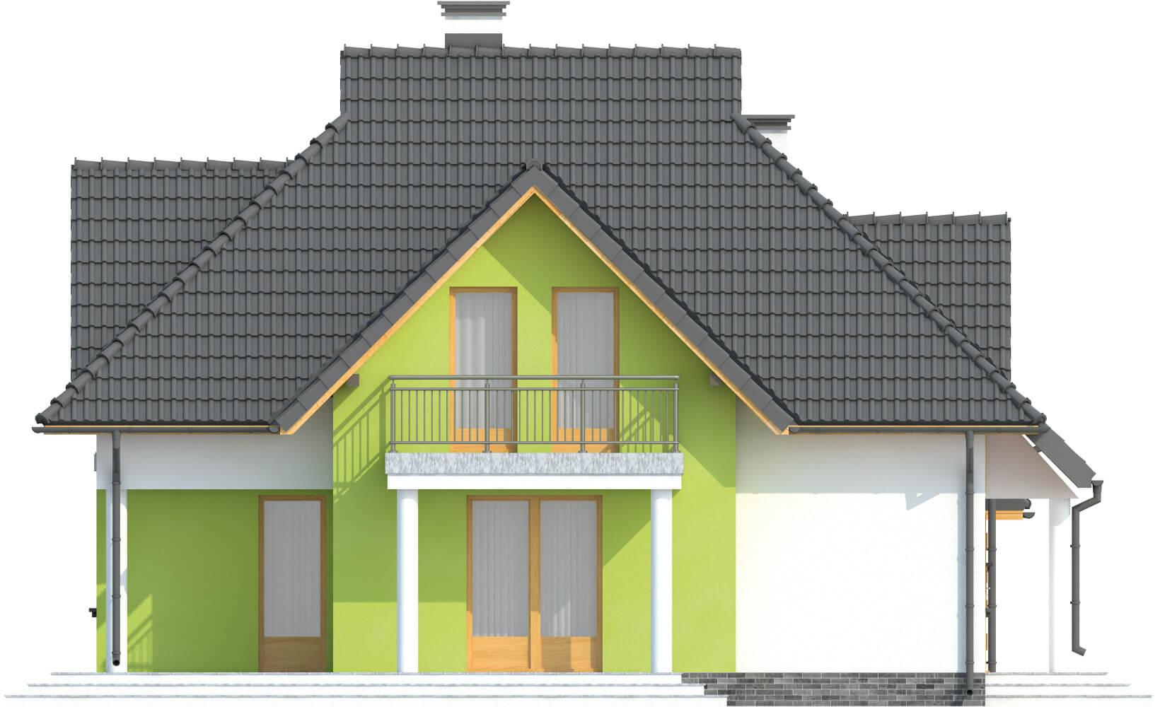 Projekt domu L-6379 - elewacja