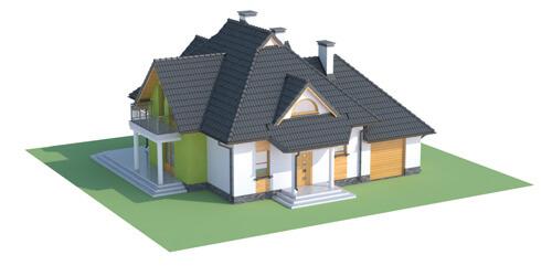 Projekt domu L-6379 - model