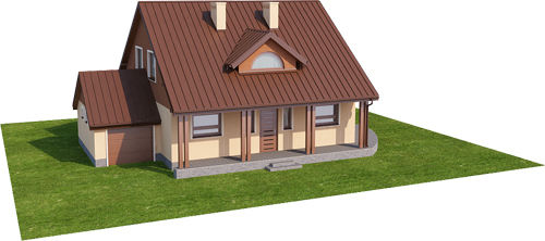 Projekt domu DM-6388 - model