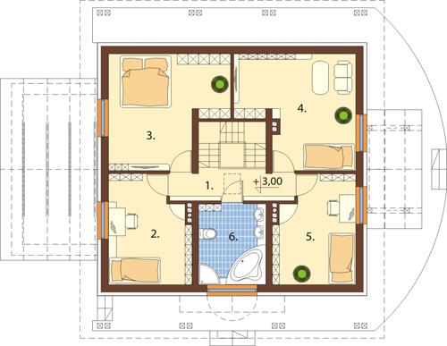 Projekt domu DM-6388 - rzut