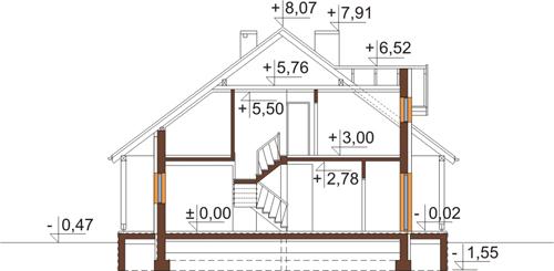 Projekt domu DM-6388 - przekrój