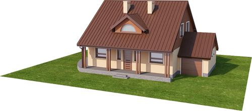 Projekt domu L-6388 - model