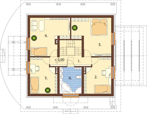 Projekt domu L-6388 - rzut