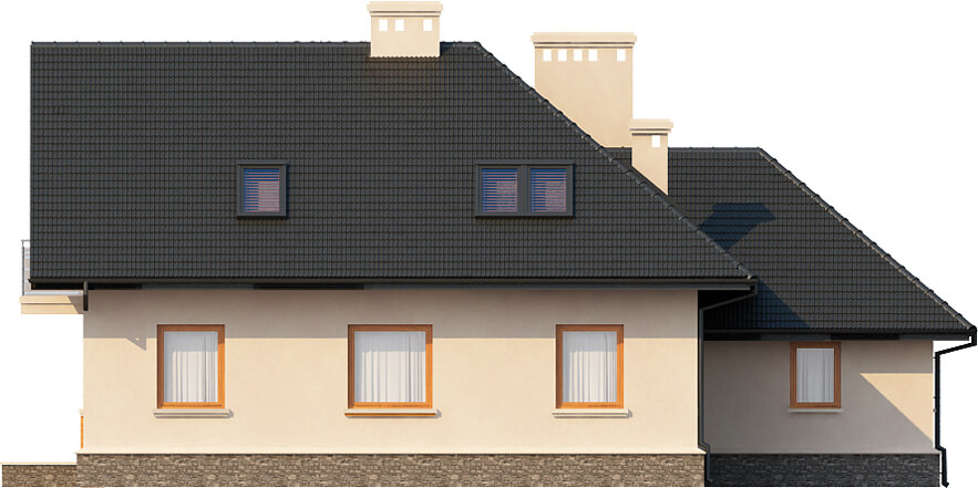 Projekt domu DM-6407 - elewacja