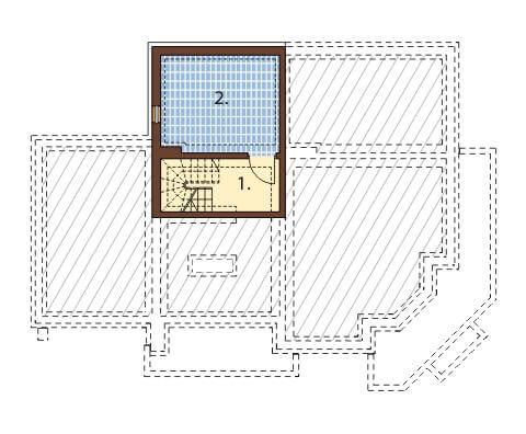 Projekt domu DM-6407 - rzut
