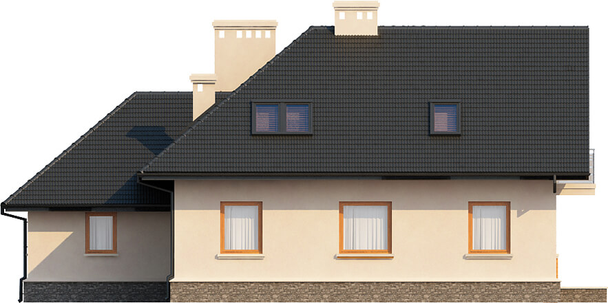 Projekt domu L-6407 - elewacja