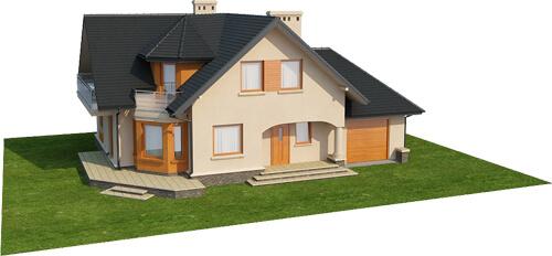 Projekt domu L-6407 - model