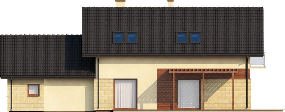 Projekt domu DM-6421 - elewacja