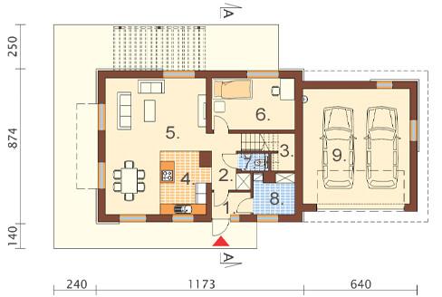 Projekt domu DM-6421 - rzut
