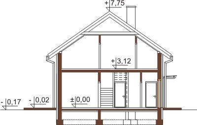 Projekt domu DM-6421 - przekrój