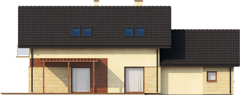 Projekt domu L-6421 - elewacja