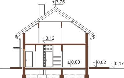 Projekt domu L-6421 - przekrój