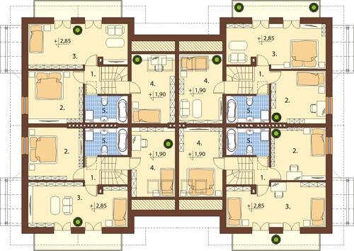 Projekt domu DM-6422 - rzut