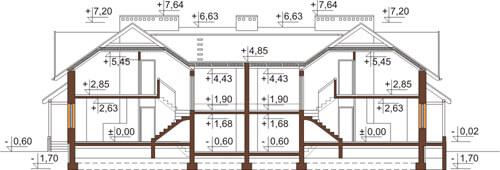 Projekt domu DM-6422 - przekrój