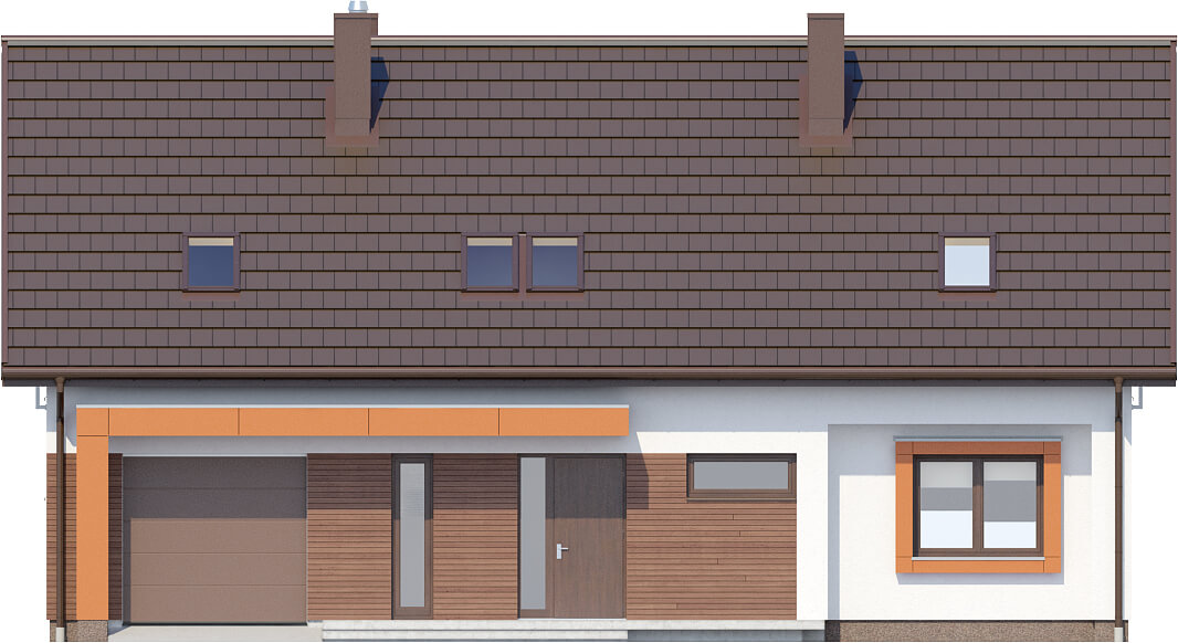 Projekt domu DM-6411 - elewacja