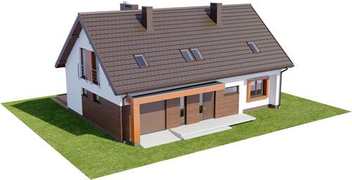 Projekt domu DM-6411 - model
